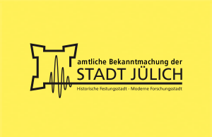 amtliche Bekanntmachung der Stadt Jülich