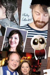 Designer Mel und Hacky, Redakteure Christiane und Cornel   Grafik: HZG