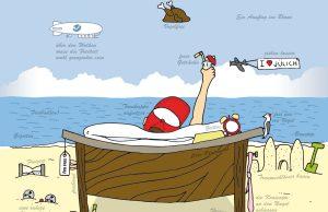 Urlaub genießt man im Strandkorb | Grafik: HZG