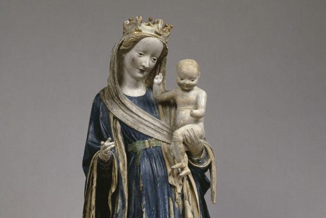 Madonna auf der Mondsichel aus Kloster Eberbach, um 1415, Musée du Louvre, Paris, Inv.-Nr. RF 1343 (© bpk - Bildagentur für Kunst, Kultur und Geschichte, RMN - Grand Palais, Musée du Louvre, Paris. Foto: Christian Jean).