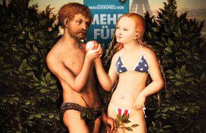 Adam, Eva und das Wahlversprechen   Foto: HERZOG