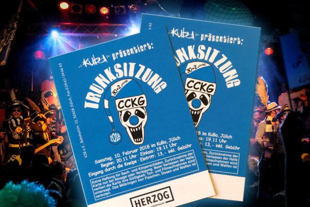 Die Karten zur CCKG Trunksitzung | Foto: HZGM