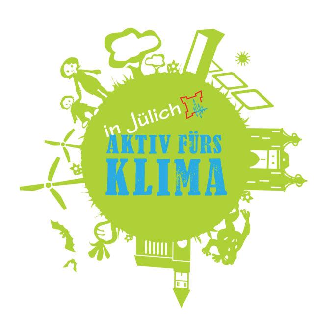 Logo der Stadt Jülich: Aktiv für's Klima