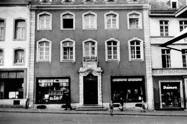 Abbildung: Das Brachelsche Haus in der Kleinen Rurstraße, um 1938. | Foto: HZG