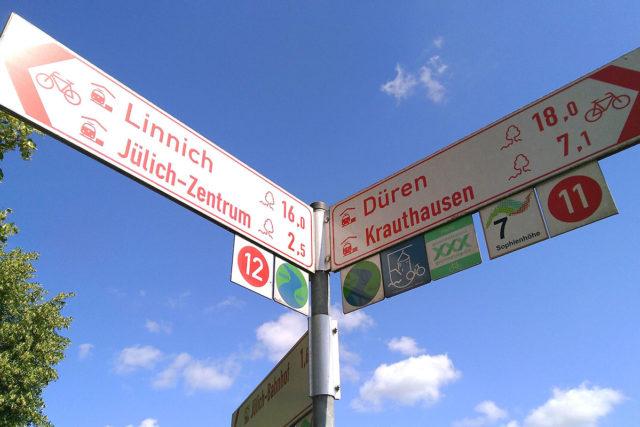 Mit dem Fahrrad das Jülicher Land erkunden und dabei Kilometer für das Stadtradeln sammeln. Foto: Sebastian Ross, Stadt Jülich