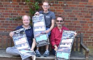 Die Drei vom Open Air Kino im Park: v.l. Cornel Cremer, Daniel von Büren und Christoph Klemens. Foto: Stadt Jülich / Gisa Stein