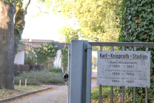 Das Karl-Knipprath-Stadion an der Rur. Foto: tee