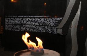Gedenkfeier am Mahnmal für die im Naziregime ermordeten Juden im Jülicher Land. Foto: Dorothée Schenk