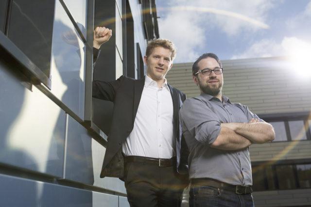 Die Gründer Georg Schaumann und Stephan Binder. Foto: Sascha Kreklau