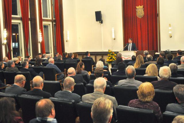 Bürgermeister Axel Fuchs bei der Rede zum Neujahresempfang 2019. Foto: Arne Schenk