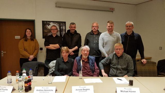 Der aktuelle Vorstand 2019 des TTC indeland. Foto: Verein